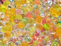 Glowing translucent colored balls Royalty Free Stock Photography