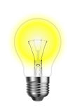 Glowing tungsten lightbulb Royalty Free Stock Photos