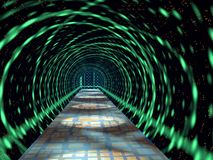 Glowing tunnel Stock Image