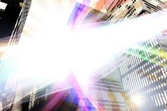 Glowing Urban Layout Stock Photo