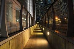 Glowing Urban Sidewalk Royalty Free Stock Image