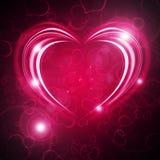 Glowing Valentine bachround Stock Photos
