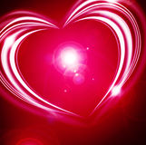 Glowing Valentine background Stock Images