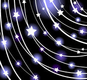 Glowing vector stars. Abstract background with glowing stars stock illustration