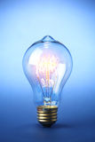 Glowing vintage light bulb Royalty Free Stock Photography