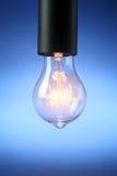 Glowing vintage light bulb Stock Photos