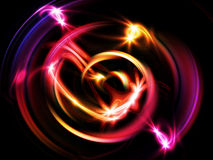 Glowing Vortex. Glowing purple light rings in motion vortex vector illustration