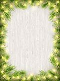 Glowing Warm Christmas Lights Frame. EPS 10 vector Stock Images