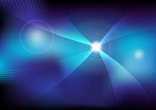 Glowing Waves. Abstract Background - Glowing Waves on Multicolor Background / Vector vector illustration