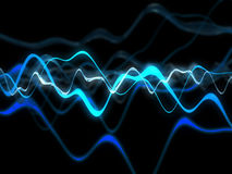 Glowing waves Stock Image