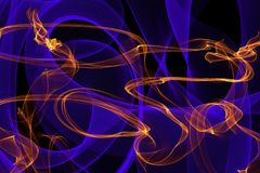 Glowing waves for creative backgrounds. Abstract wave motion of colorful glowing lines on dark background for creative, dynamic, interesting backgrounds and vector illustration