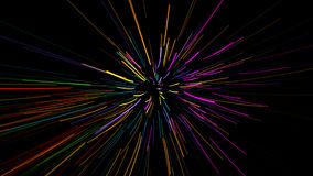 Glowing wavy lines Stock Photos