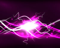 Glowing wavy lines template Royalty Free Stock Photos