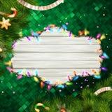 Glowing White Christmas Lights. EPS 10 Stock Photo