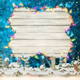 Glowing White Christmas Lights. EPS 10 Royalty Free Stock Photo