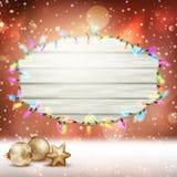 Glowing White Christmas Lights. EPS 10 Stock Photos