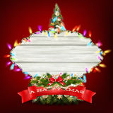 Glowing White Christmas Lights. EPS 10 Royalty Free Stock Photos