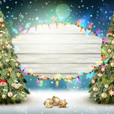 Glowing White Christmas Lights. EPS 10 Stock Images
