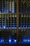 Glowing wine rack Stock Photo