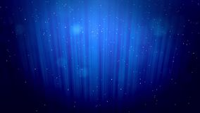 Glowing winter blue background with snowfall and rays like the northern lights. Use it as a winter background with bokeh. And copy space for a Christmas or New stock footage