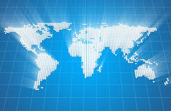 Glowing World Map Stock Images