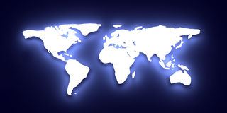 Glowing World map Stock Photography