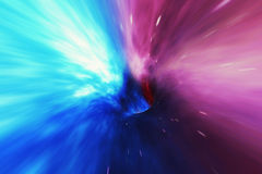 Glowing wormhole in space, interstellar warp, traveling trough space and time. 3d rendering. Glowing wormhole in space, interstellar warp, traveling trough space Stock Photos