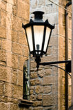 Glowing Wrought Iron Lamp Royalty Free Stock Photos