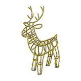 Glowing Xmas Deer Sculpture Garland On Metal Frame. Glowing Christmas deer. Sculpture made of small garland over the metal frame. Isolated on white background Stock Photography