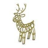 Glowing Xmas Deer Sculpture Garland On Metal Frame Stock Photography