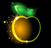 Glowing yellow apple Royalty Free Stock Photography