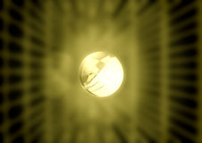 Glowing yellow Sphere Royalty Free Stock Photo