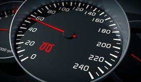 Glowplug warning light in car dashboard. 3D rendered illustration.  Stock Photo