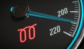 Glowplug warning light in car dashboard. 3D rendered illustration Stock Photography