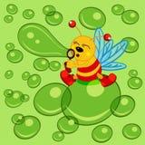 Glowworm and bubble Stock Image
