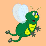 Glowworm cartoon. Illustration character Royalty Free Stock Photography