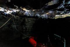 Free Glowworms Filaments Inside A Cave, Waitomo, New Zealand Royalty Free Stock Image - 127670616