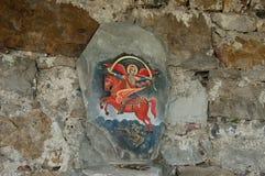 Glozhene修道院圣乔治- 13世纪, 库存图片