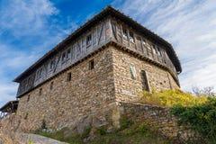 Glozhene修道院,保加利亚外部的低角度视图  图库摄影