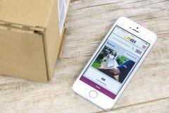 GLS APP sur l'iPhone Photographie stock libre de droits