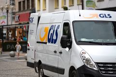 GLS delivers the shipment stock photos