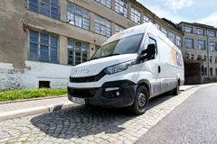 GLS delivery van. General Logistics Systems B.V. was founded in 1999 and is a subsidiary of British postal service Royal Mail Stock Photo