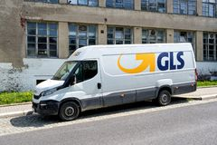 GLS delivery van. General Logistics Systems B.V. was founded in 1999 and is a subsidiary of British postal service Royal Mail Royalty Free Stock Photo