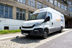 GLS delivery van. General Logistics Systems B.V. was founded in 1999 and is a subsidiary of British postal service Royal Mail Royalty Free Stock Image