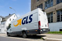 GLS delivery van. General Logistics Systems B.V. was founded in 1999 and is a subsidiary of British postal service Royal Mail Stock Image