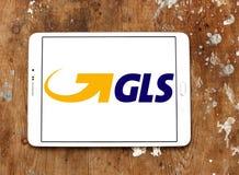 Gls, logotipo general de los sistemas de la logística Imagen de archivo