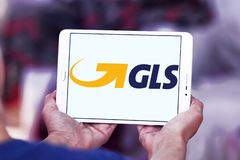 Gls, logotipo general de los sistemas de la logística Fotografía de archivo