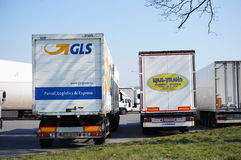 GLS and Max-Trans trucks Stock Photo