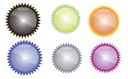 Glsosy colored buttons Royalty Free Stock Photography