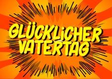 Glucklicher Vatertag faders dag i tysk arkivbilder